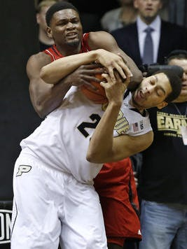 Purdue center A.J. Hammons could be among the Boilermakers' Big Ten award winners tonight.