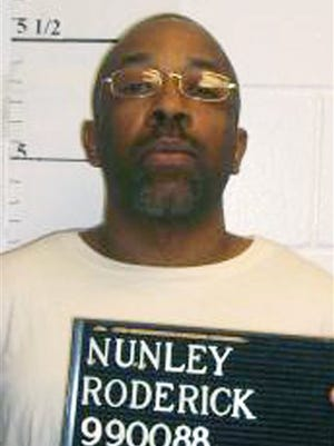 This April 22, 2014 provided by the Missouri Department of Corrections shows Roderick Nunley who is scheduled to die for raping and killing 15-year-old Ann Harrison in Kansas City in 1989. (Missouri Department of Corrections via AP)