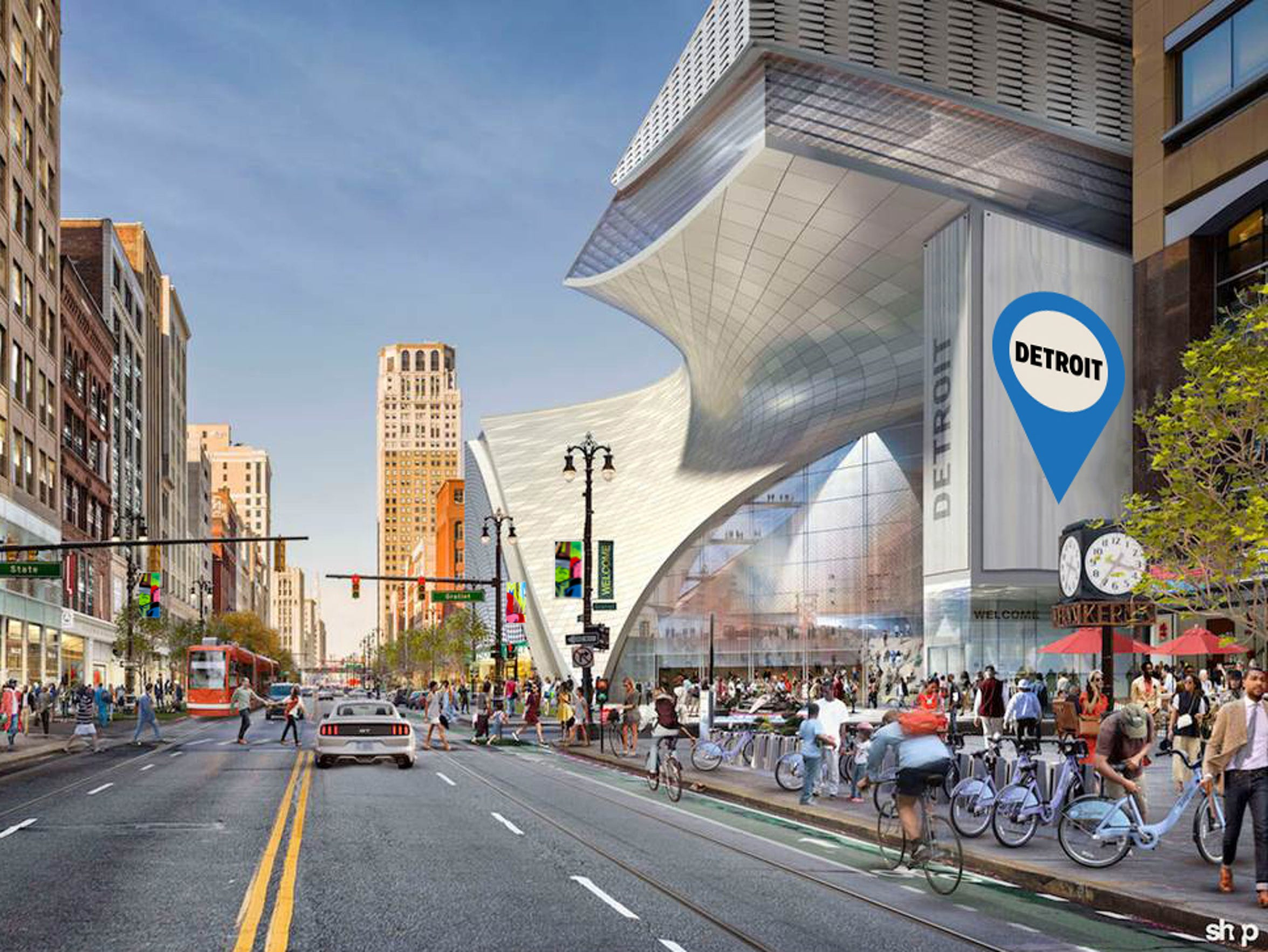 A rendering provided by Rock Ventures shows Dan Gilbert's