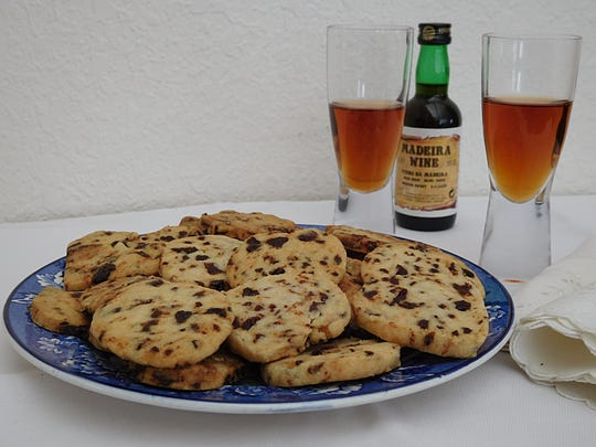 Butter Madeira Cookies, made with dried tart cherries instead of currants, go well with Madeira wine.