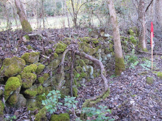 The Taylor property in Macon County has several rock walls built when Bessman Harper owned the property in the 1940s.