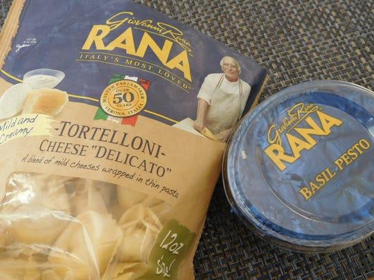 "Rana Tortelloni Cheese ""Delicato"" and Rana Basil Pesto Sauce"