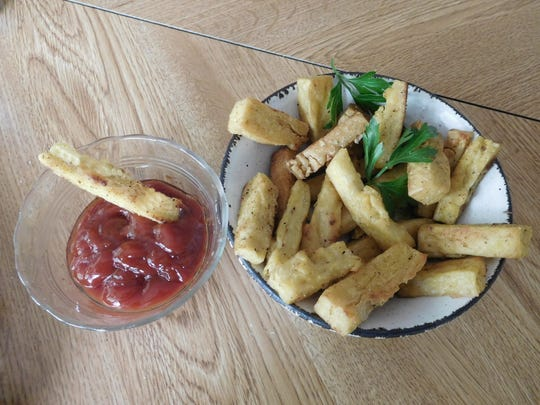 "Panisse - chickpea flour ""French fries."""