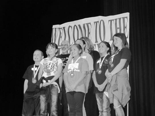 The third place team included White Mountain Elementary's Ramie Kinney.