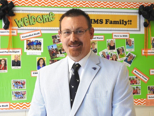 William C. Price, principal Hillcrest Middle School