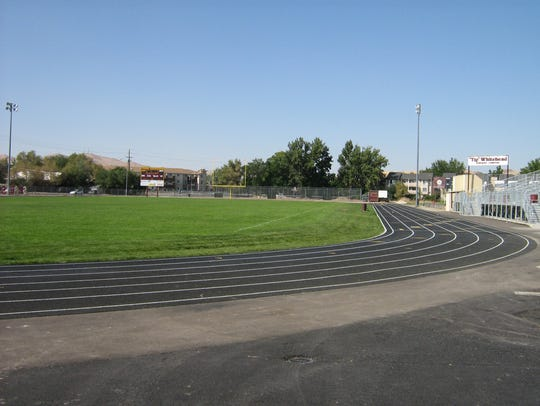 The track at Sparks High was recently refurbished.