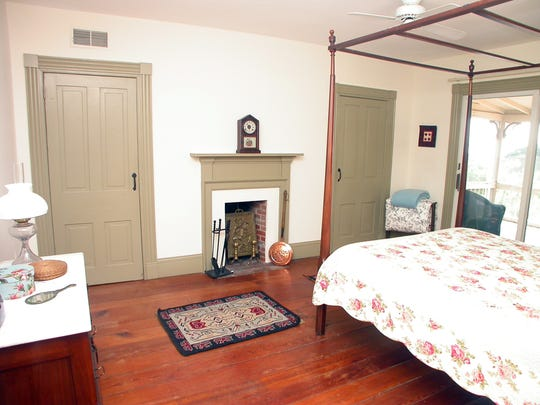 Original doors, built-ins, floors and built-ins still grace the house at 9 The Strand in Historic New Castle.