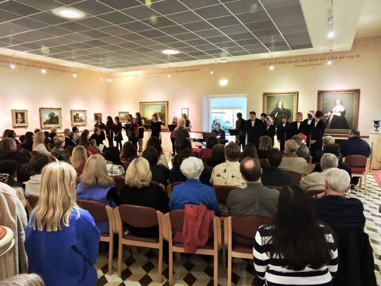 A holiday concert at Norton Art Gallery.