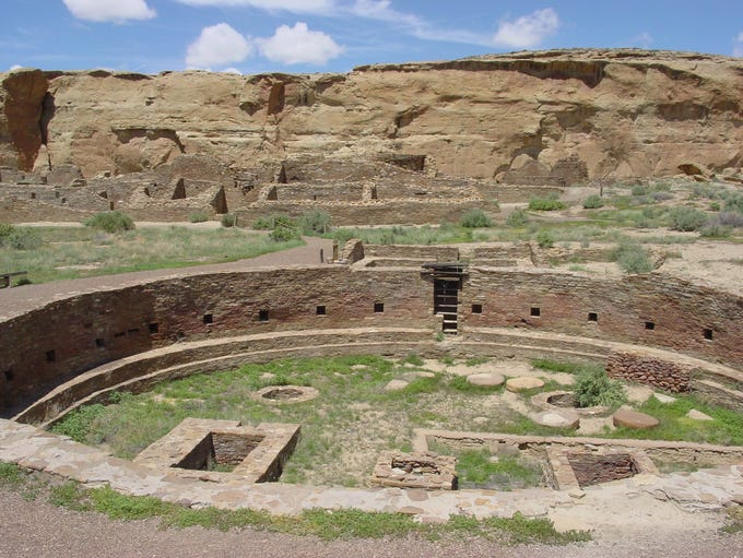 Chaco Canyon, N.M., was the center of Pueblo culture