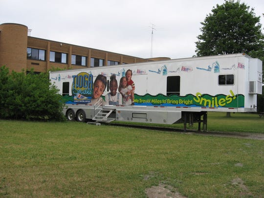 The Tioga County Mobile Dental Van, parked at Spencer-Van