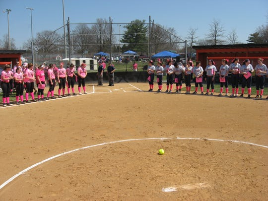 The Palmyra and Hershey softball teams will again team up for a Pink Game, on April 11, to aid in the fight against breast cancer.