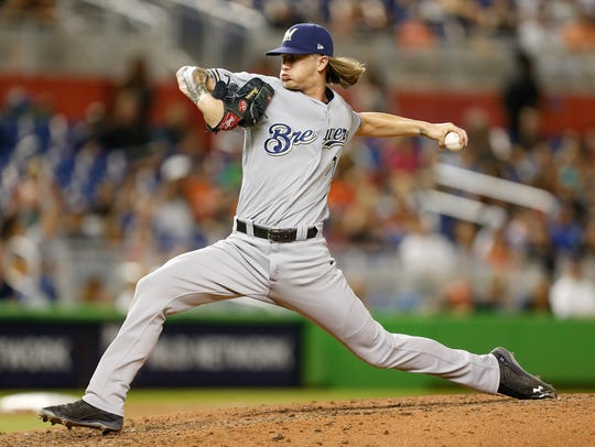 Josh Hader, who leads all major league relievers in