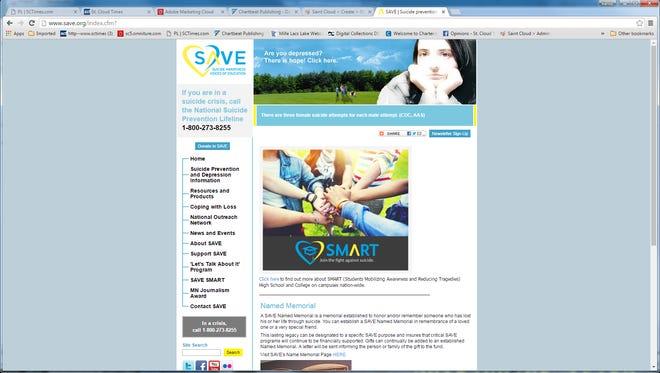 Visit save.org for mental health information.