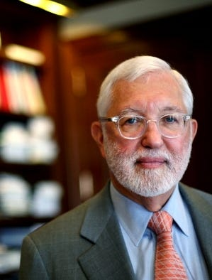 Judge Jed Rakoff in his chamber in New York City's Manhattan federal court