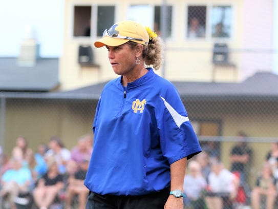 McNairy Central coach Mell Surratt watches on during