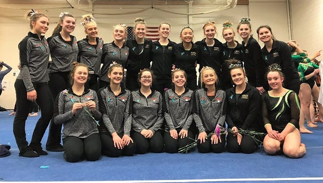 The Brighton and Howell gymnastics teams tied for second in the regional, qualifying for the state meet.