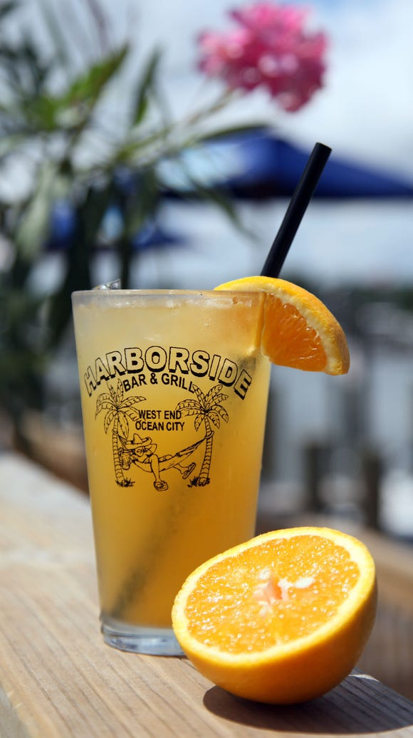 The Orange Crush drink is available at Harborside Bar