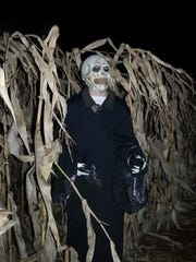 Part of the haunted corn maze in 2013 at Willow Springs
