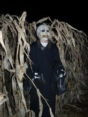 A haunted corn maze at Willow Springs Garden.