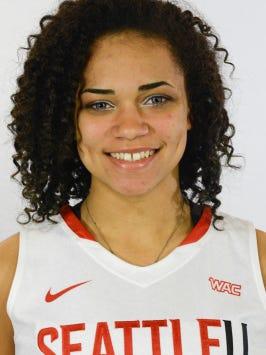 Seattle University freshman Kamira Sanders, an Enterprise High School grad, was named the Western Athletic Conference Freshman of the Year.