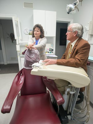 """Dentists Kim Jernigan, DMD and Walter """"Beau"""" Biggs, DMD talk about the Florida Dental Association's Mission of Mercy.  Thousands of people are expected to receive no-cost-to-them dental services during the event that will be held at Woodham Middle School in Pensacola on March 24 and 25, 2017."""