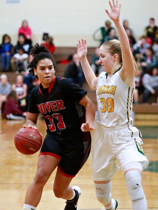 Dover vs York Catholic in girls' basketball