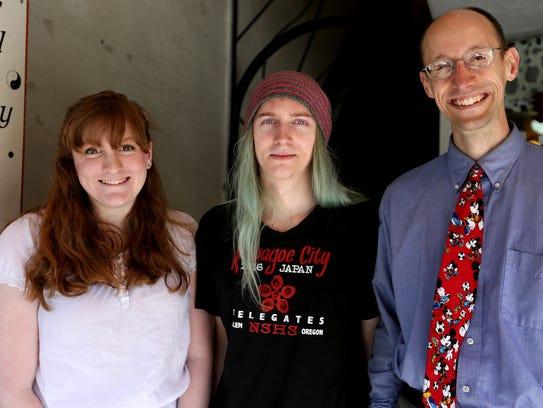 North Salem senior Carly Gould, from left, sophomore