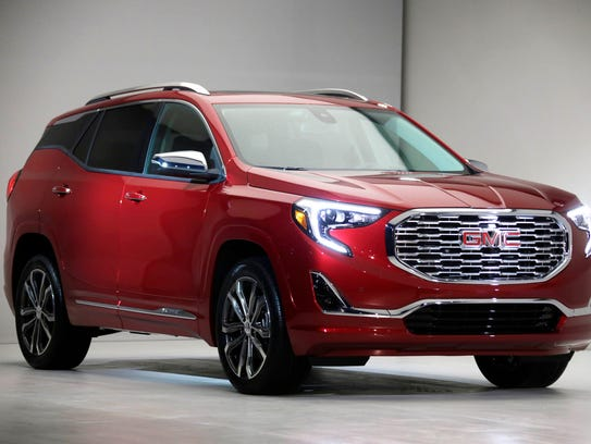 The 2018 GMC Terrain Denali was revealed Sunday, Jan.