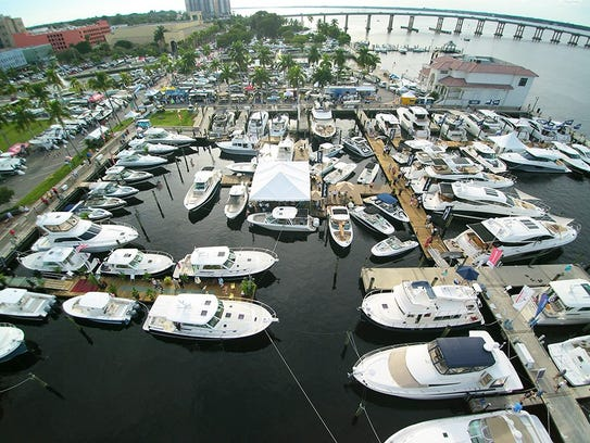 Boat show cruises into fort myers this weekend for Global motors fort myers florida