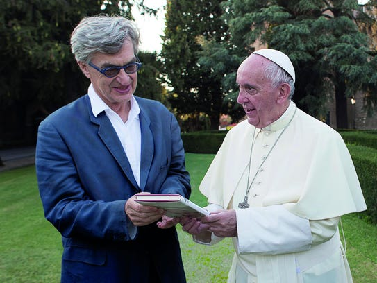 Pope Francis and director Wim Wenders.