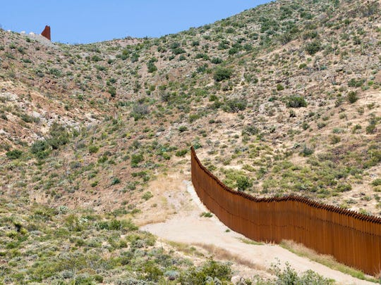 A gap in the U.S.-Mexico border fence is seen near Jacumba, California, east of San Diego. There are gaps like this in Nogales and near San Diego due to the terrain.