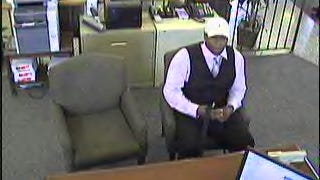 Police and the FBI are looking for this man in this afternoon's robbery.