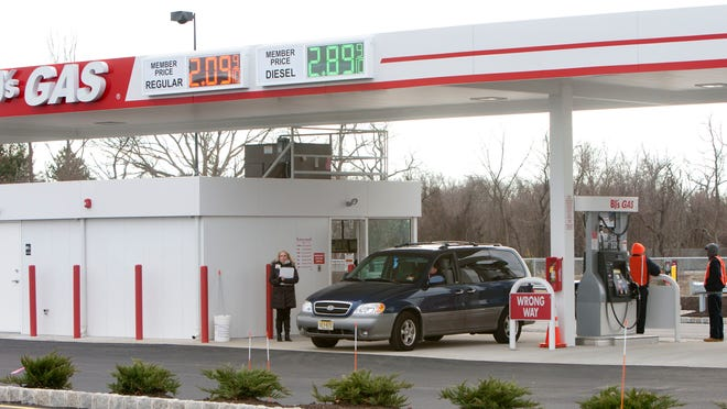 BJ's Wholesale Club was selling gasoline for $2.09 a gallon last week at its new Howell station.