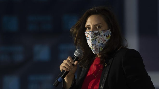 Gov. Gretchen Whitmer took legal action Friday, Nov. 13, to shut down a pipeline that carries oil beneath a channel that links two of the Great Lakes.