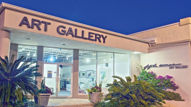The front of the Fifth Avenue Art Gallery in Eau Gallie's art district.