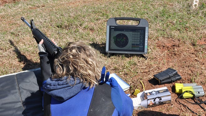 Targets featuring KTS technology provide instant feedback on the firing line as shot values are displayed on monitors beside each shooter.