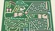 The Robin Hood-themed maze at Risser-Marvel Farm Market