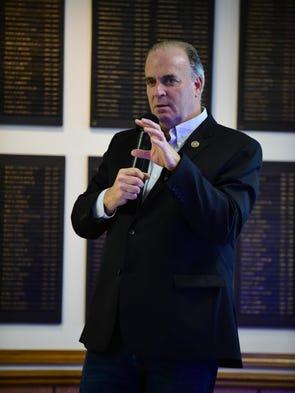 U.S. Rep. Dan Kildee, D-Flint Township, talks to those