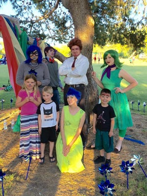 """Haven Family Resource Center holds a showing of """"Inside Out"""" at their event Family Movies in the Park."""