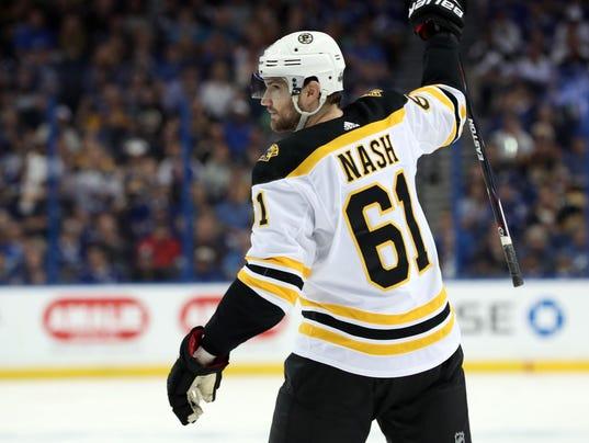 USP NHL: STANLEY CUP PLAYOFFS-BOSTON BRUINS AT TAM S HKN TBL BOS USA FL