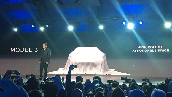 Elon Musk at a Tesla event.