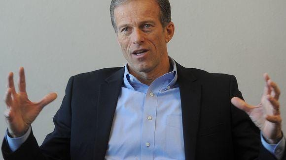 Sen. John Thune has struggled with whether or not to support Republican presidential nominee Donald Trump.