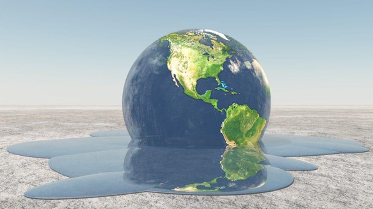 Image result for planet melting global warming