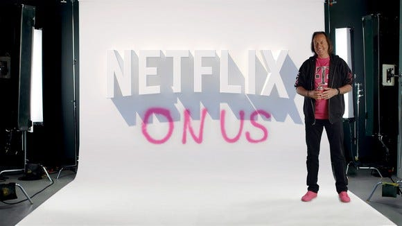 T-Mobile is giving its family plan members Netflix for free.