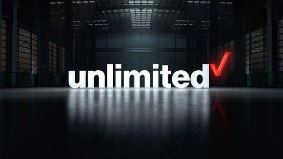 Verizon's unlimited plan logo.