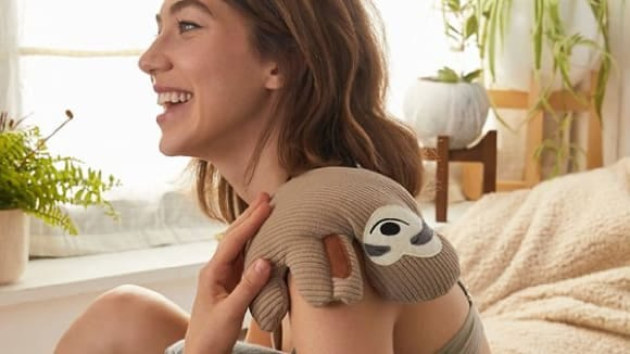 Huggable Sloth Cooling and Heating Pad