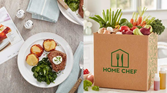 Don't have time to run to the grocery store? Hate eating the same thing every night? Try out a Home Chef subscription.