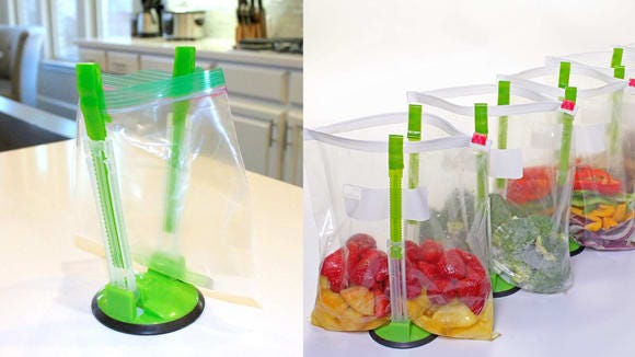 Best products for lazy people: Baggie Stand.