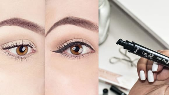 Best products for lazy people: Lovoir Eyeliner Stamp.