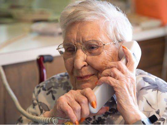 Toms River resident Nancy Manno celebrates her 108th